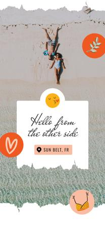 Couple at the Beach in summer Snapchat Geofilter – шаблон для дизайну
