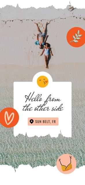 Template di design Couple at the Beach in summer Snapchat Geofilter