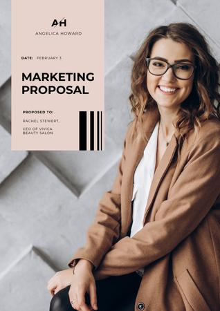 Plantilla de diseño de Marketing professional services Proposal