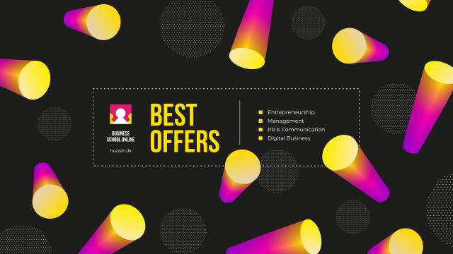 Modèle de visuel Sale Announcement with Bright Lights on Black Background - Youtube