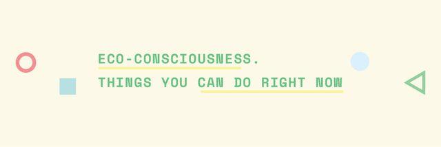 Eco-consciousness concept Email header Modelo de Design