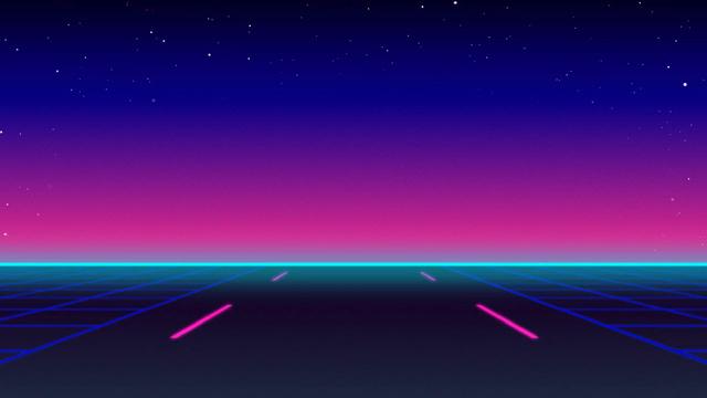 Plantilla de diseño de Road in Digital World Zoom Background