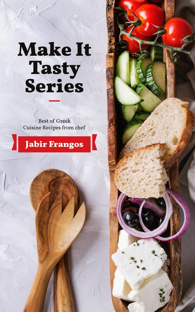 Greek Cuisine Recipes Healthy Food on Table | eBook Template — Créer un visuel