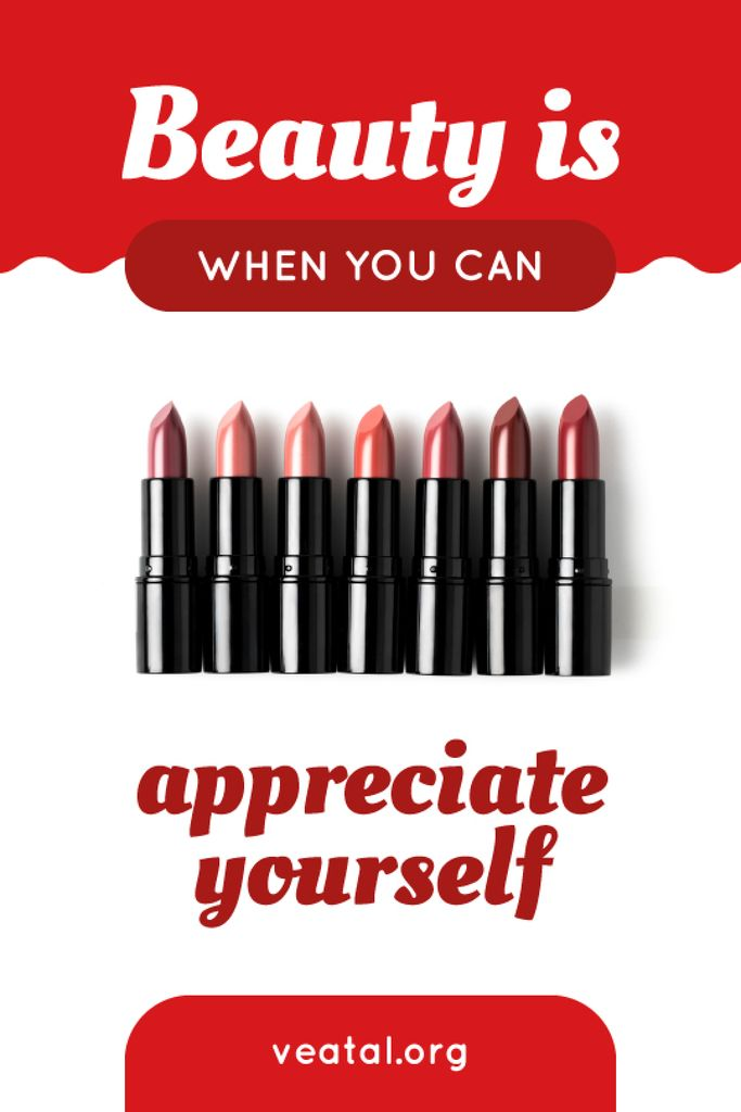 Beauty Quote Lipsticks in Red — Создать дизайн