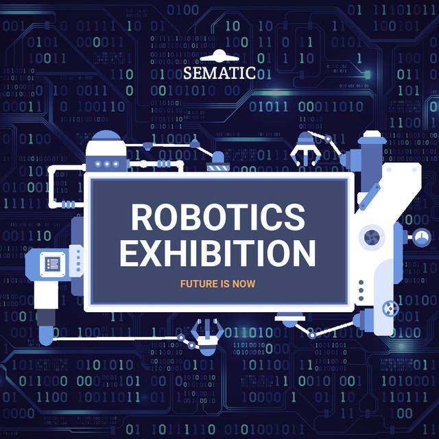 Robotics Event Invitation Production Line Frame Animated Post – шаблон для дизайна