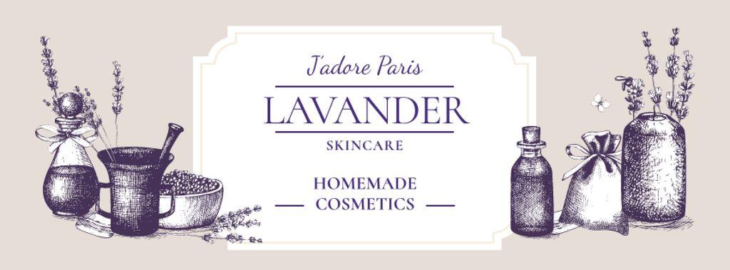 Homemade Cosmetics Ad with Purple Lavender — Modelo de projeto