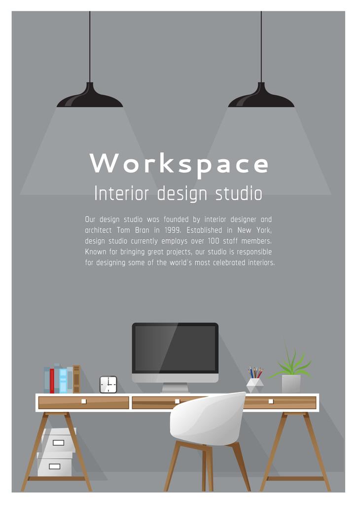 Interior design poster — Créer un visuel