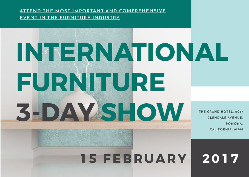 International furniture show — Crea un design