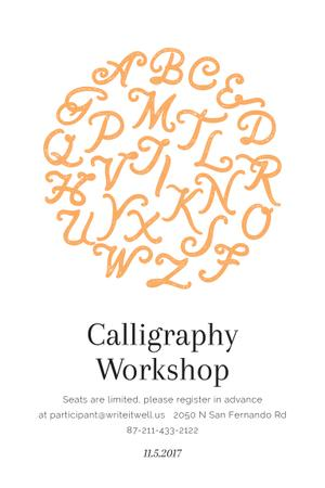 Template di design Calligraphy workshop Announcement Pinterest