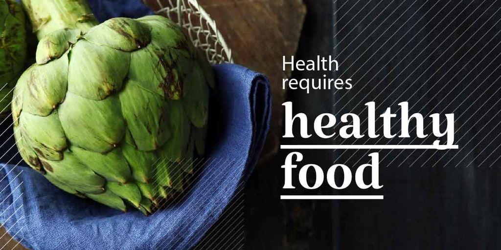 Health requires healthy food poster   — Modelo de projeto