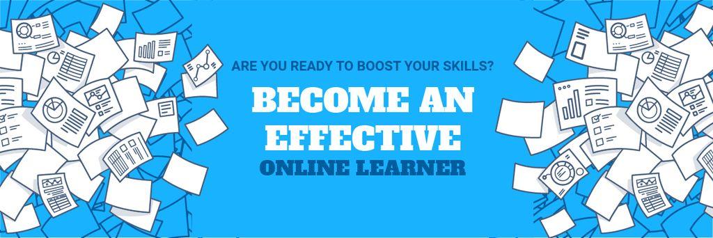 Online learning event announcement — Crea un design