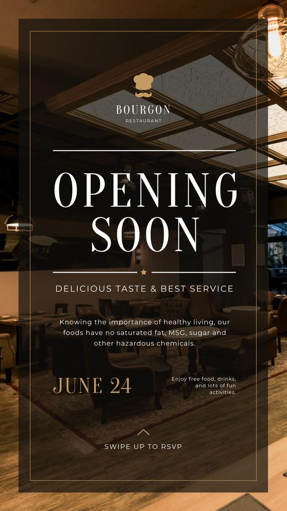 Restaurant Opening Announcement Classic Interior — Create a Design