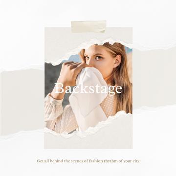 Fashion ad Elegant Woman in White Clothes