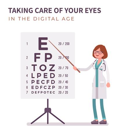 Template di design Female ophthalmologist in clinic Animated Post