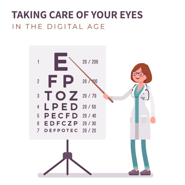 Female ophthalmologist in clinic Animated Post – шаблон для дизайна