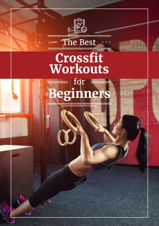 Template di design Best fitness Workouts for Beginners Poster