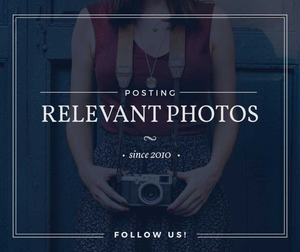 posting relevant photos banner — Créer un visuel