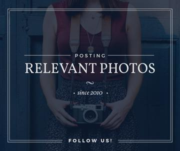 posting relevant photos banner