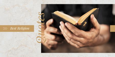 Template di design Hands holding Bible Image