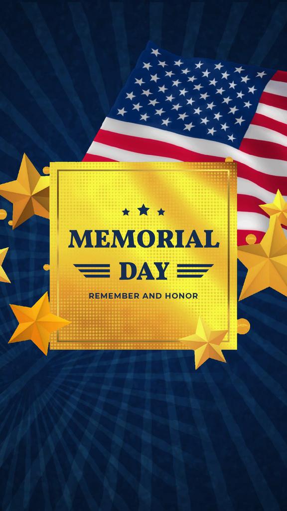 USA Memorial Day waving Flag — Crear un diseño