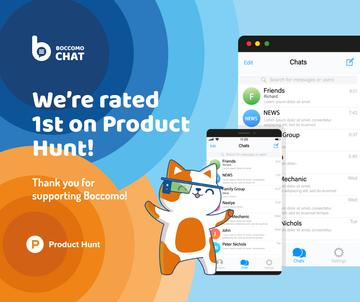 Product Hunt Promotion Chats Page on Screen | Facebook Post Template
