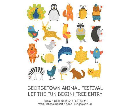 Plantilla de diseño de Georgetown Animal Festival Medium Rectangle