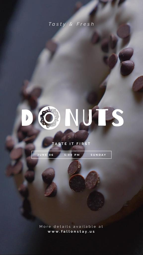Bakery Offer Sweet Glazed Doughnut | Vertical Video Template — Maak een ontwerp