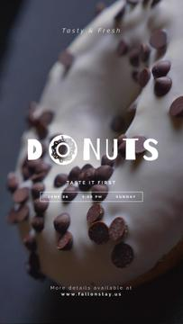 Bakery Offer Sweet Glazed Doughnut | Vertical Video Template