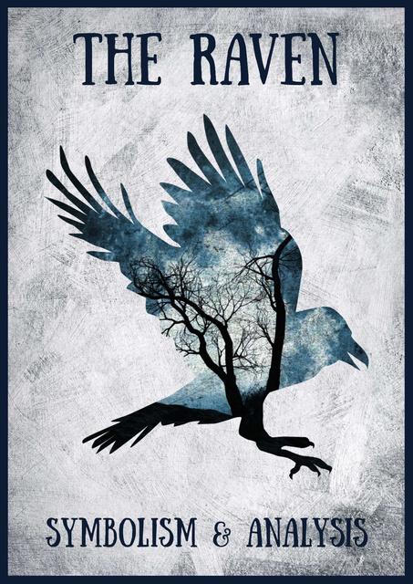 Modèle de visuel The Raven with Bird's Silhouette - Poster