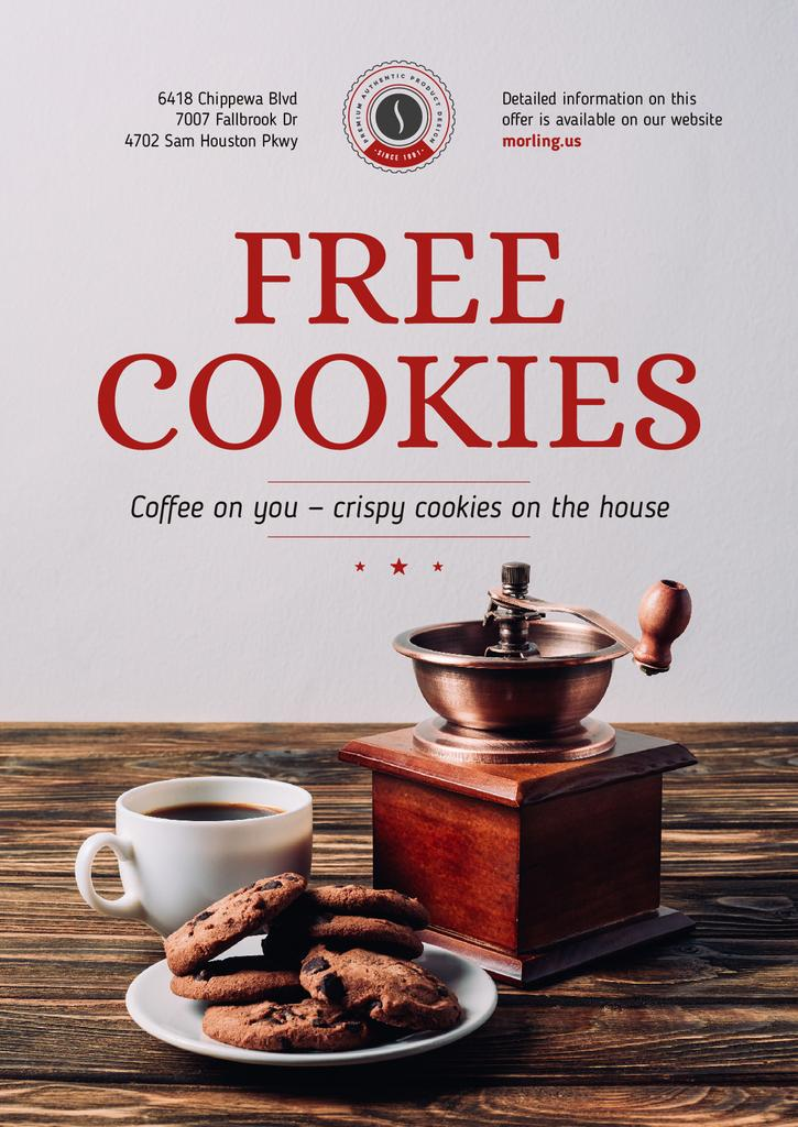 Coffee Shop Promotion with Coffee and Cookies — Maak een ontwerp