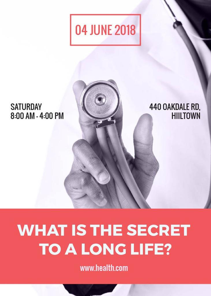 Secret to long life medical conference — Создать дизайн