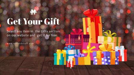 Template di design Stack of gift boxes Full HD video