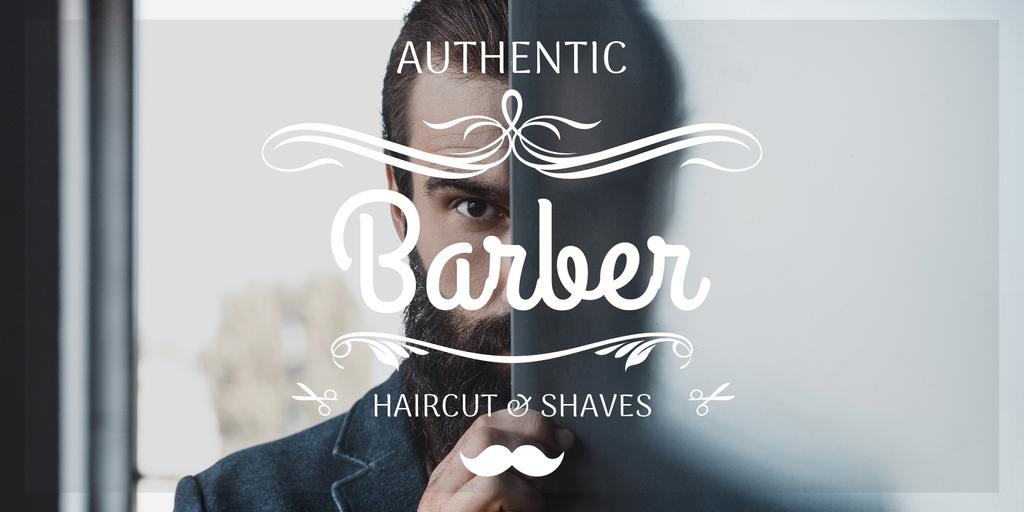 advertisement poster for barbershop — Modelo de projeto