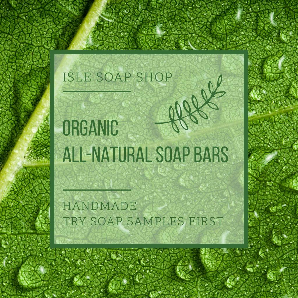 Organic soap bars advertisement — Maak een ontwerp