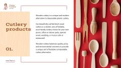 Kitchenware Ad with Wooden Cutlery Set
