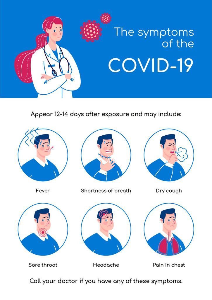 Covid-19 symptoms with Doctor's advice — ein Design erstellen