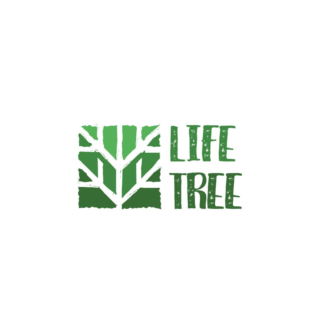 Plantilla de diseño de Ecological Organization Logo with Tree in Green Logo
