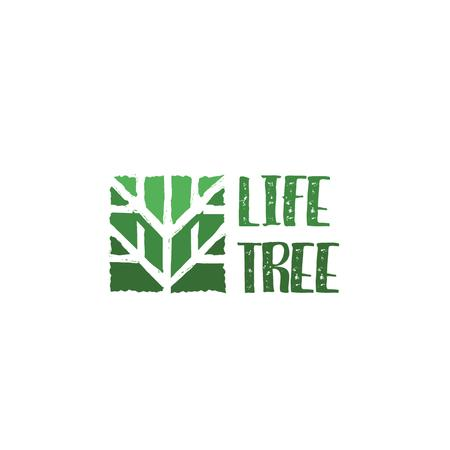 Ecological Organization Logo with Tree in Green Logoデザインテンプレート