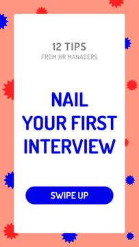 Business Interview tips on bright pattern