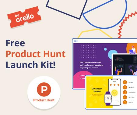 Szablon projektu Product Hunt Launch Kit Offer Digital Devices Screen Facebook