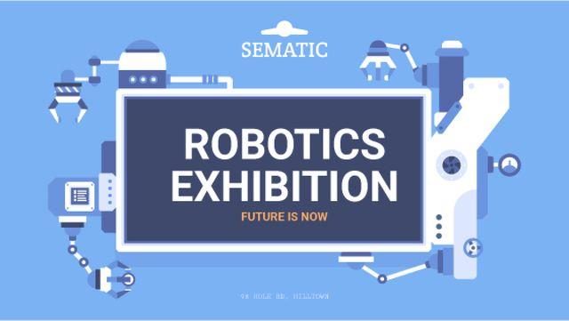 Robotics Exhibition Ad Automated Production Line Title – шаблон для дизайна