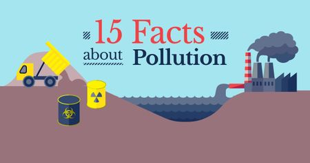 Plantilla de diseño de Facts about pollution Facebook AD