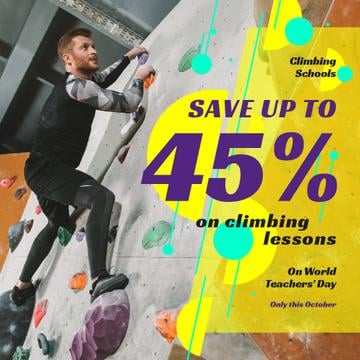 World Teachers' Day Climbing Lessons Offer | Instagram Post Template