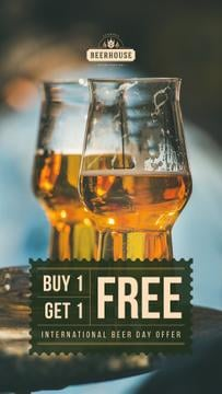 Beer Day Offer Keg Lager in Glasses | Stories Template