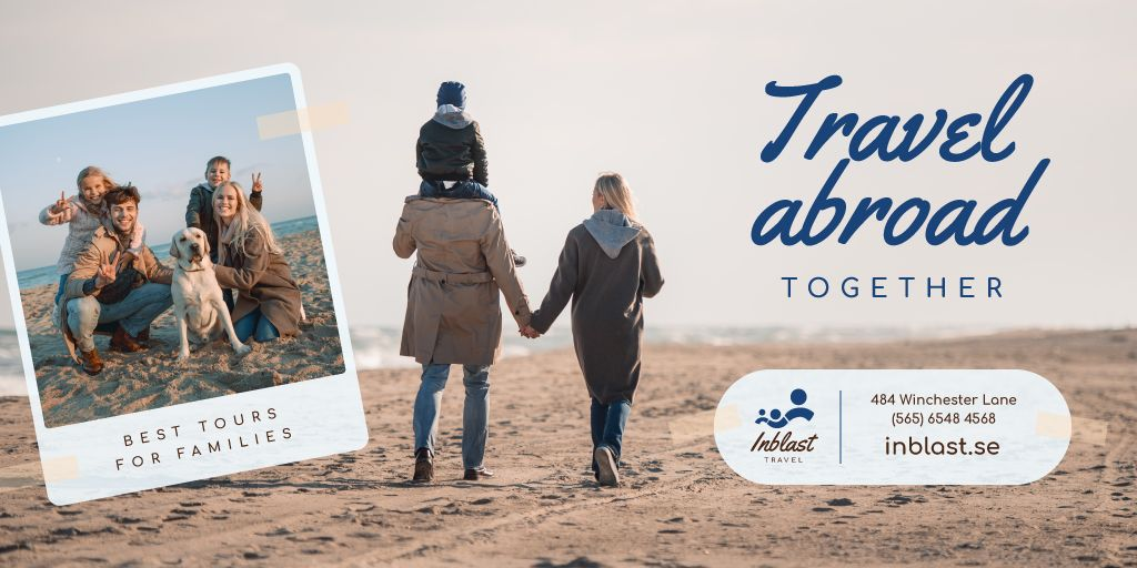 Family Tour Offer Parents with Kids at the Beach — Maak een ontwerp
