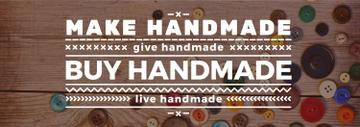 banner for handicrafts store with buttons