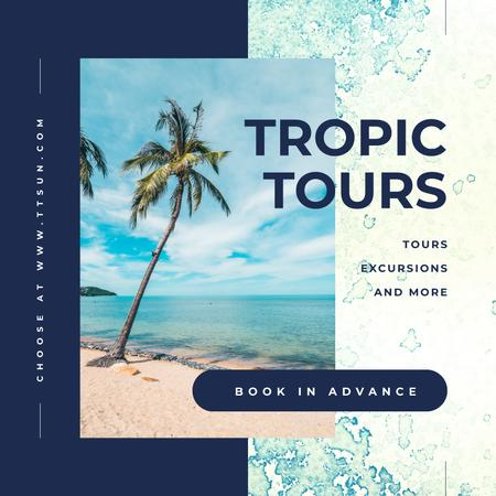 Turquoise sea water at tropical coast Instagram – шаблон для дизайну