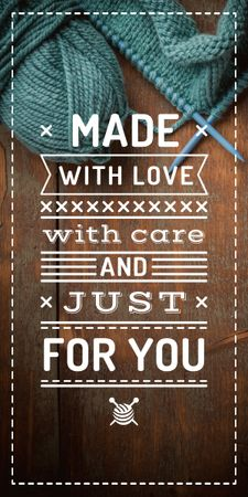 Plantilla de diseño de Knitting Quote wool Yarn in Blue Graphic