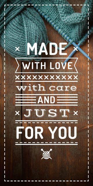 Knitting Quote wool Yarn in Blue Graphic – шаблон для дизайну