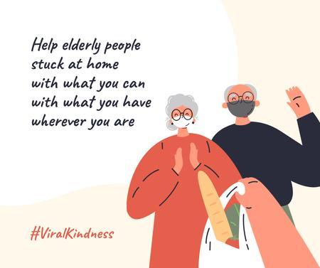Plantilla de diseño de #ViralKindness Plea to help elderly people Facebook